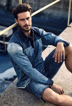 Denim summer look for men brought to you by Tom Maslanka