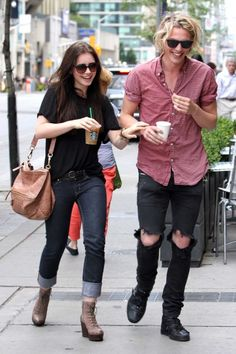 "Lily Collins and Jamie Campbell Bower go for a walk to get Starbucks coffee while laughing and having fun in Toronto, Canada. Lily Collins and Jamie Campbell Bower are in Toronto for pre-production meetings to film the upcoming movie ""The Mortal Instruments""."