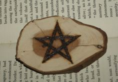 English Yew Wood Pentagram Altar Piece Pagan by Mythospheria Wiccan Altar, Pagan, Beeswax Polish, Pentacle, Voodoo, Pyrography, Etsy Store, English, Colours