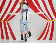 Christian the Unicyclist - made by Evie- handmade romance - *swoon*
