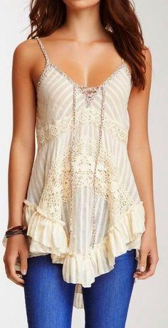 Boho Ivory Lace Top