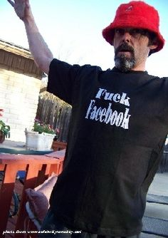 Celebrity Monkeys has made the only Fuck Facebook Shirt in the World Get Yours Now.