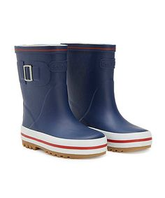 Navy Buckle Wellies