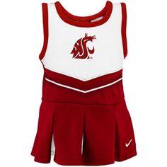 Nike Washington State Cougars Toddler Girls Crimson 2-Piece Cheerleader Dress Set -