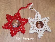 Snowflake crochet pattern Christmas ornament Christmas tree