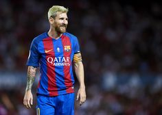 Lionel Messi of FC Barcelona looks on during the match between Sevilla FC vs FC…