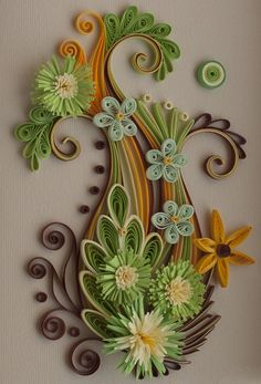Neli is a talented quilling artist from Bulgaria. Her unique quilling cards bring joy to people around the world. Neli Quilling, Paper Quilling Patterns, Origami And Quilling, Quilling Paper Craft, Paper Crafts, Quilling Tutorial, Diy And Crafts, Arts And Crafts, Quilled Creations