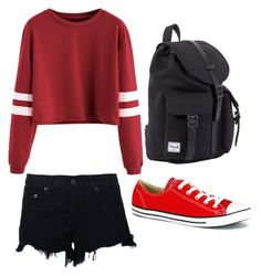 """Untitled #238"" by shyanimeguy on Polyvore featuring rag & bone, Converse and Herschel"