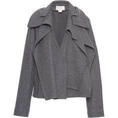 Antonio Berardi Constructed Wool Jacket (16.690 DKK) ❤ liked on Polyvore featuring outerwear, jackets, grey, gray jacket, gray wool jacket, woolen jacket, grey wool jacket and antonio berardi