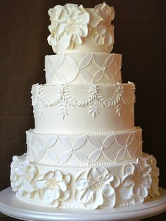 All white wedding cake, stunning!