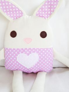 Toy Sewing Pattern - Bunny Doll Softie - PDF. $8.00, via Etsy.