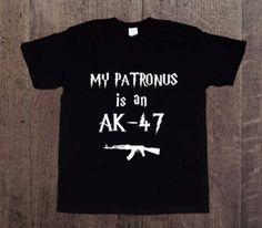 Patronus+AK-47,+Męska+koszulka+z+nadrukiem+w+DDshirt+na+DaWanda.com