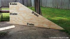DIY Dog Ramp Angled Sides