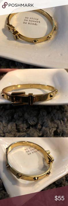 Michael Korn Gold Buckle Bracelet with Studs Gold Michael Kors Bracelet in excellent condition! ✨ Michael Kors Jewelry Bracelets