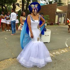 People from all over the world are fast embracing the African TRENDY XHOSA ATTIRE fabrics andthe designers truly deserve some accolades African Wedding Dress, African Print Dresses, African Dress, African Weddings, Nigerian Weddings, Xhosa Attire, African Attire, African Wear, Traditional African Clothing