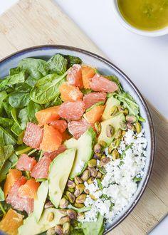 Citrus Avocado Salad with a Lemon-Mint Vinaigrette - a perfect summer salad recipe!