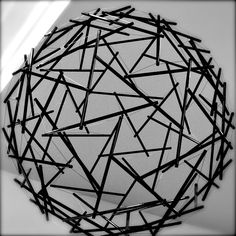 Tension Integrity Sphere This model, displayed at the Black Mountain College Museum + Art Center in Asheville, was actually constructed by R. Buckminster Fuller. (TameLady sees the possibility of the human mind when stimulated!!)