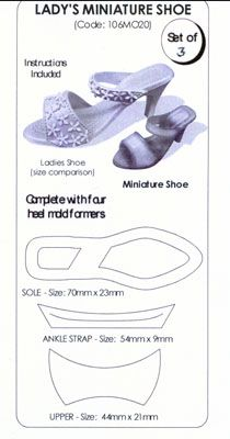 Gumpaste High Heel Template | HIGH HEEL SHOES, GLOVES & HANDBAGS - PURSES, for gumpaste, fondant
