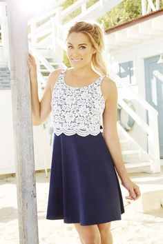 cute lace dress just needs sleeves #LaurenConrad