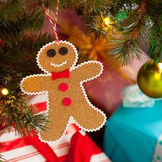 Gingerbread Person Christmas Ornament, made from sandpaper!   AllYou.com