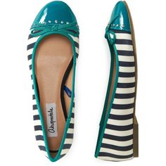 Aeropostale Striped Ballet Flat ($22) ❤ liked on Polyvore