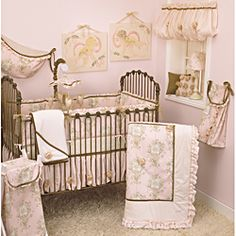 @Overstock - Complete the sweet look of your nursery with this adorable Lollipops and Roses 8-piece crib bedding set from Cotton Tale. The set includes the floral patterned bedding, diaper stacker, toy bag, valance and much more.http://www.overstock.com/Baby/Cotton-Tale-Lollipops-and-Roses-8-piece-Crib-Bedding-Set/6658090/product.html?CID=214117 $190.29