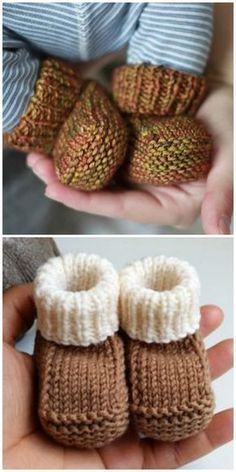 Knitted Baby Booties Free Patterns Cutest Ideas EverYou can find Baby booties and more on our website.Knitted Baby Booties Free Patterns Cutest Ideas Ever Baby Booties Knitting Pattern, Knit Baby Shoes, Crochet Baby Booties, Baby Bootees, Knit For Baby, Knitted Baby Clothes, Knit Crochet, Knit Baby Sweaters, Crochet Granny