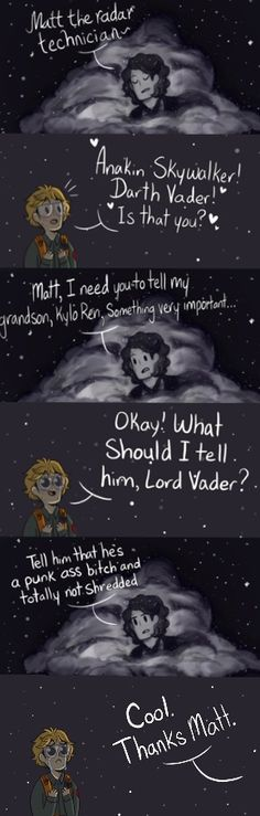 It's funny because James Earl Jones voiced both Mufasa and Darth Vader
