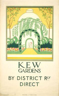 Beau Kew Gardens   Irene Fawkes (1923) Online Posters, Art Posters, Vintage  Posters