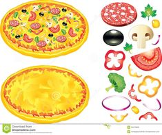 Pizza Toppings Clip Art Free