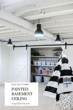 If you have a basement with a low ceiling, you may need some basement ceiling id. If you have a basement with a low ceiling, you may need some basement ceiling ideas to make it look Basement Remodel Diy, Basement Makeover, Basement Renovations, Home Remodeling, Basement Decorating, Decorating Ideas, Refinished Basement Ideas, Decorating Bedrooms, Kitchen Remodeling