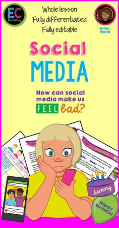 A one hour lesson suitable for grades 4 to 7 (lower ability), all about social media and the fear of missing out (FOMO) and how spending a lot of time on social media can make us worried and anxious.  It is well-differentiated with three-level challenges for each task, contains a variety of activities, an hour long PowerPoint, a four page information pack, a clip with questions, a literacy focus task, clear measurable LOs, new key-term introductions, case study and debate tasks.