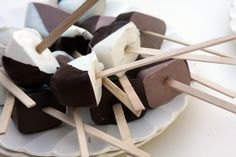 Hot Chocolate On a Stick. Very simple! I have to try this!