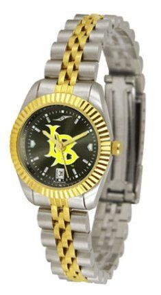Long Beach State 49ers Suntime Executive Anochrome Ladies NCAA Watch by SunTime. $169.20. Safety Clasp. 23kt Gold Plate Bezel. Stainless Steel Case. Calendar Date Function. Two-Tone Solid Stainless Steel Band. The ultimate fan's statement, our Executive timepiece offers men and women a classic, business-appropriate look. Features a 23kt gold-plated bezel, stainless steel case and date function. Secures to your wrist with a two-tone solid stainless steel band complete with safety ...
