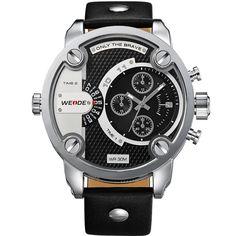 WEIDE Watches Men Military Quartz Sports Watch Luxury Brand Leather Strap Watch Wristwatch New Sale Hot Oversize Wristwatches