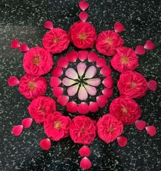 What are Top Flower Rangoli Designs Images 2019 Flower Rangoli Images, Rangoli Designs Flower, Rangoli Patterns, Rangoli Ideas, Rangoli Designs Diwali, Flower Designs, Rangoli With Flowers, Simple Flower Rangoli, Easy Rangoli Designs Videos