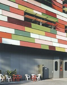 Fire station Berlin-Germany  by Sauerbruch Hutton architects