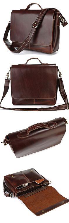 """Computer Bag Genuine Leather Briefcase Messenger Bag 13"""" 14"""" 15"""" Laptop 13"""" 15"""" MacBook Bag"""