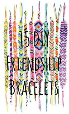 15 Summer Camp Style Friendship Bracelets You Can Make Right Now: http://www.buzzfeed.com/mackenziekruvant/15-summer-camp-style-friendship-bracelets-you-can-make-right
