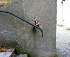 calvib & hobbs. street art.