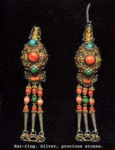 Mongolian traditional earring