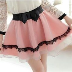 Buy Everose Bow-Accent Paneled A-Line Skirt at YesStyle.com! Quality products at remarkable prices. FREE Worldwide Shipping available!