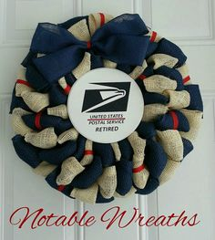 Check out this item in my Etsy shop https://www.etsy.com/listing/504713149/usps-retired-wreath-postal-wreath-year