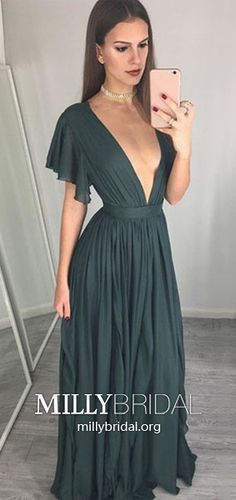 Green Prom Dresses A Line, Elegant Formal Evening Dresses Long, Chiffon Military Ball Dresses For Teens, Modest Pageant Graduation Party Dresses V Neck Unique Homecoming Dresses, Pageant Dresses For Teens, Modest Formal Dresses, Vintage Formal Dresses, Formal Dresses For Teens, Cheap Evening Dresses, Graduation Dresses, Formal Dresses Australia, Military Ball Dresses