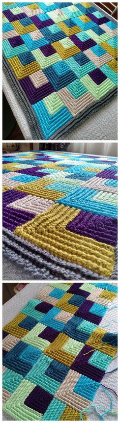 Crochet granny square bag pattern ideas ideas for 2019 Sewing Patterns Free Home, Knitting Patterns Free, Crochet Squares Afghan, Afghan Crochet Patterns, Blanket Crochet, Crochet Afghans, Crochet Baby, Free Crochet, Crochet Granny