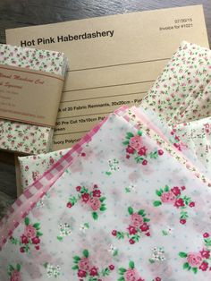 My favourite order of the day!.... What a lovely choice of products.... A fab parcel to receive! www.hotpinkhaberdashery.com
