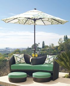 Malibu for two - double-seat lounger  | Frontgate: Live Beautifully Outdoors