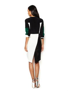 FALL TRENDS: BOLD LEATHER - Posh Leather Panel Pencil Skirt (Elizabeth and James)