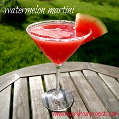 Happy Hour Projects: Watermelon Martini ... juice method may work for other drinks