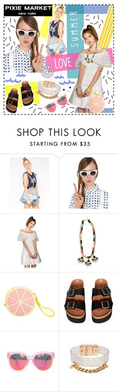 """""""SUMMER LOVE PIXIE MARKET"""" by electric-bird ❤ liked on Polyvore featuring Alice McCall, Sixtyseven, Summer, pixiemarket, electricbird and PIXIEMARKETGIRL"""